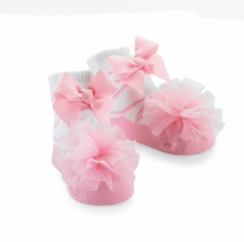 Mud Pie Tulle Puff Baby Socks