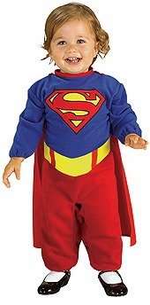 BABY SUPERGIRL Costume - Red/ Blue SALE