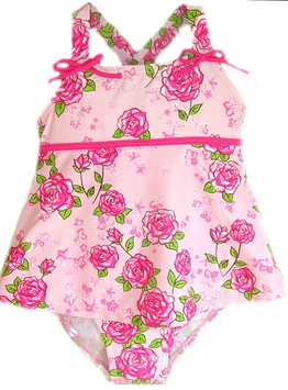 Beautiful Skirted Roses Swimsuit - One Piece with Sequins! Toddler
