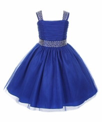 Big Girls Royal Blue Sparkling Special Occasion Dress - SOLD OUT