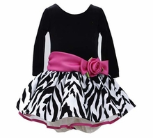 Black Fuchsia Zebra Hipster Dress - Girls Party Dress