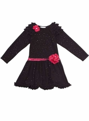 Black Sparkle Knit Dress  - Size 7 -16  FINAL SALE