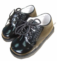 BLACK PATENT Infant or Toddler Boys Dress Shoes - Black Patent