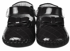 Black Patent Quilted Toddler Little Girls Shoes