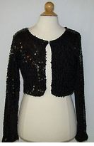 Black Sequin Girl's Bolero