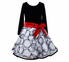 Black Velvet Circle Hipster Dress - Special Occasion Dress CLEARANCE