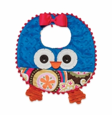Blue Baby Girl's Bib: Mud Pie Infant Girl's Owl Bib SOLD OUT