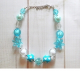 Blue Inspired Chunky Frozen Elsa Necklace