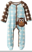 Blue Newborn Baby Boy's Sleeper: Mud Pie Owl Baby Owl Piece