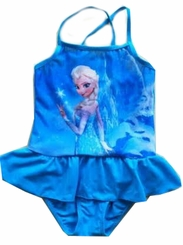 Blue Ruffle Princess Inspired One Piece Swimsuit - sold out
