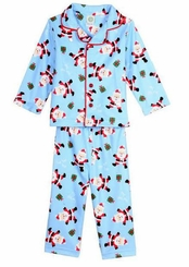 Blue Santa Pajamas - Christmas Pajamas
