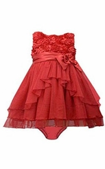 Bonnie Baby-girls Baby Red Holiday Bonaz Dress