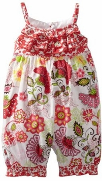 Bonnie Baby Girls Newborn Print Party Romper - SOLD OUT