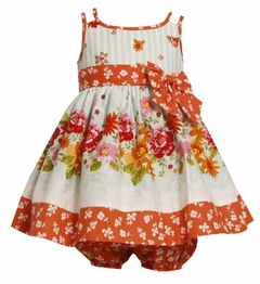 Bonnie  Baby Orange - Aqua Floral Sundress and Bloomers  Last One