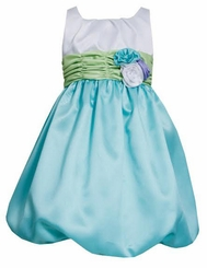 Bonnie Jean Aqua Bubble Special Occasion Dress CLEARANCE