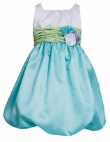 Bonnie Jean Aqua Bubble Special Occasion Dress