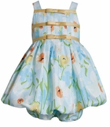 Toddler Easter Dress 12 month - 4T Bonnie Jean Aqua Floral SALE