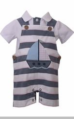 Bonnie Jean Baby Boy's Sailboat Coverall