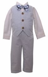 Bonnie Jean Baby Boys Seersucker 4pc Boy Suit Set