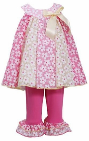Bonnie Jean Baby and Little Girls' Paneled Flower Set