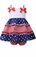 Bonnie Jean Baby Girl's 4th of July Stars and Stripes Dress - SOLD OUT