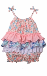 Bonnie Jean Baby Girl's Ditsy Floral Ruffle Coverall