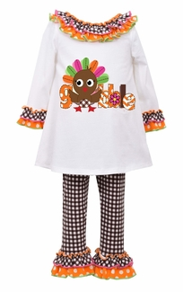Bonnie Jean Baby-Girls Gobble Turkey Legging Set - sold out