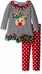 Bonnie Jean Baby Girls Christmas Reindeer Legging Set