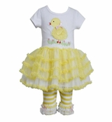 Bonnie Jean Baby Girls Easter Chick Tutu Set