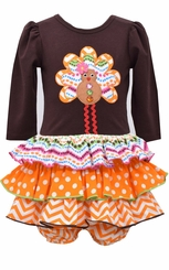 Bonnie Jean Baby-Girls Gingerbread Turkey Dress Set - sold out