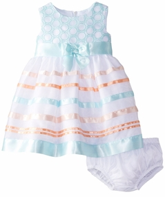 Bonnie Jean Baby-Girls Mint Stripe Dress