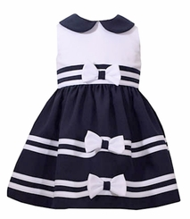 Bonnie Jean Baby Girls Nautical Bow Dress