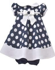 Bonnie Jean Baby-Girls Nautical Dot Dress
