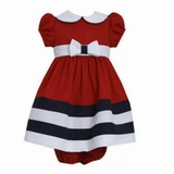 Bonnie Jean Baby-Girls Nautical Peter Pan Collar Dress