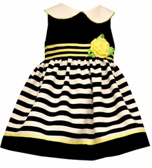 Bonnie Jean Baby Girls Navy Yellow Easter Dress