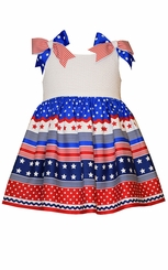 Bonnie Jean Baby Girls Patriotic Bow Sundress