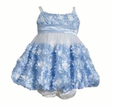 Bonnie Jean Baby-Girls Periwinkle Bonaz Bubble Dress