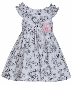 Bonnie Jean Baby-Girls Shoulder Ruffle Poplin Toile Dress