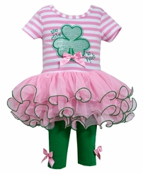 Bonnie Jean Girls St Patrick's Day Shamrock Legging Set