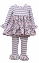 Bonnie Jean Baby-Girls Toile Legging Set