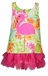 Bonnie Jean Baby Girls Tropical Flamingo Dress