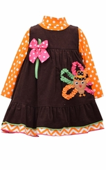 Bonnie Jean Baby-Girls Turkey Dress Set