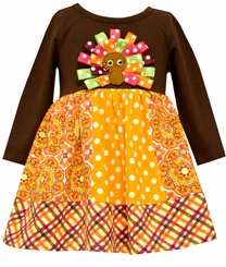 Bonnie Jean Baby Girls Turkey Thanksgiving Dress