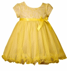 Bonnie Jean Baby Girls Yellow Lace Dress