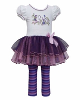 Bonnie Jean Baby-Infant Love Floral Tutu Set