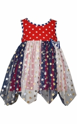 Bonnie Jean Baby Patriotic Pageant Star Tulle Dress