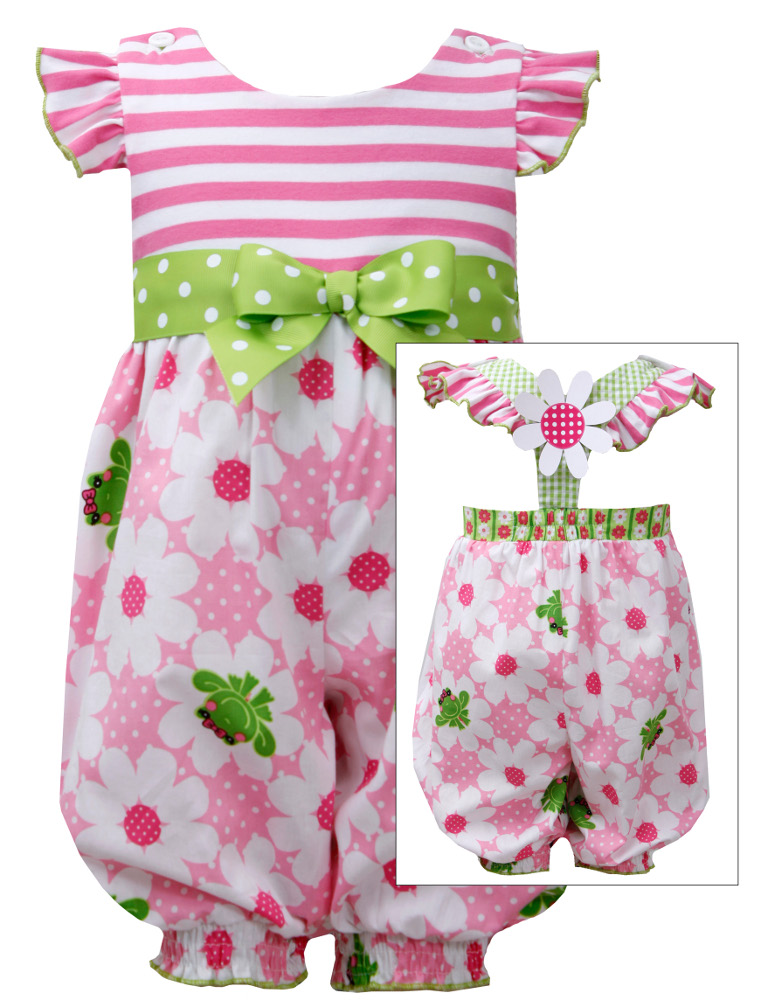 Bonnie Jean Baby -Toddler Frog Print Party Pant FINAL SALE