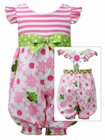 Bonnie Jean Baby-Toddler Frog Print Party Pant