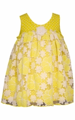 Bonnie Jean Baby Yellow Daisy Tulle Dress