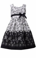 Bonnie Jean Big Girl's Black and Ivory Toile Dress - sold out